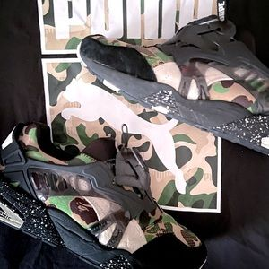 Puma bape camo disc blaze used original box
